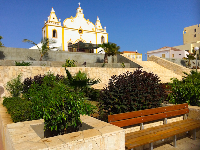 Vila do Maio town square and church Maio