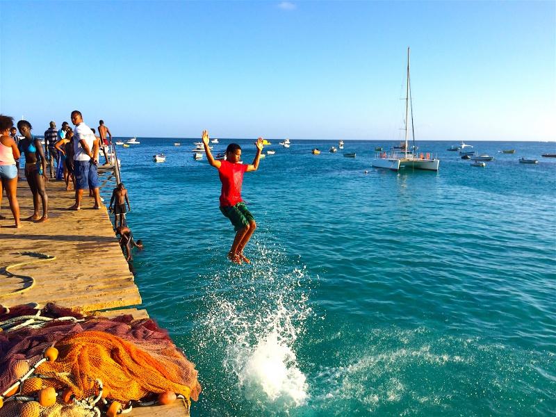 Jetty jumping Santa Maria Sal