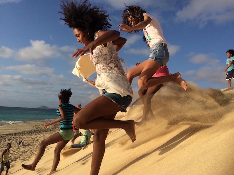 Sand dune Ponta Preta beach Santa Maria Sal Cape Verde