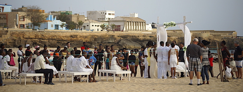 wedding on maio beach