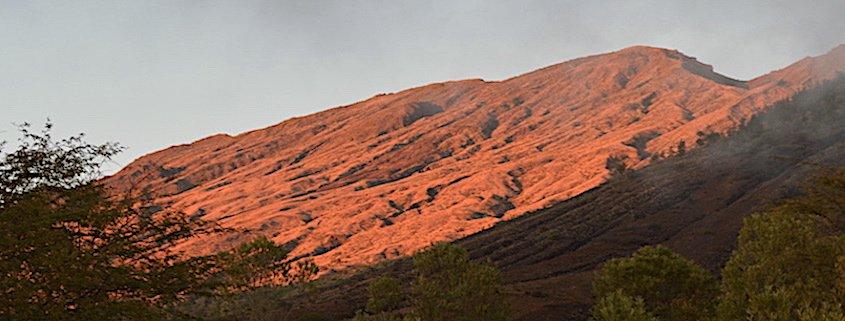 fogo mountain sunset