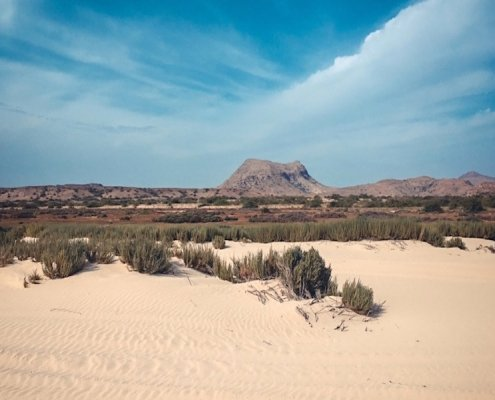 Sand and mountains in Boa Vista