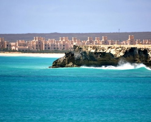 Hotel and coastline on Boa Vista