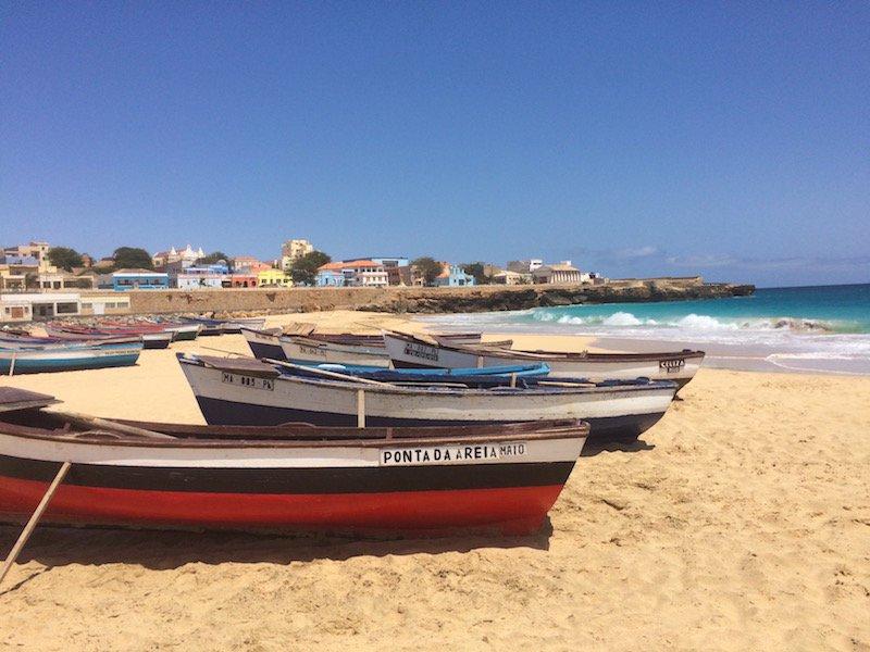 Main beach Vila do Maio on Maio