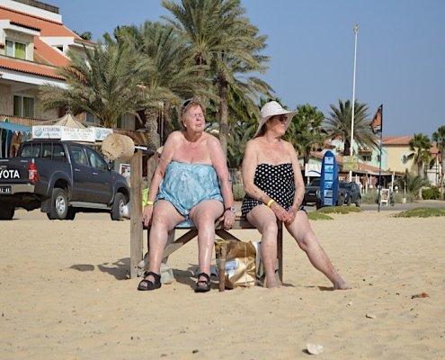 On the beach in Santa Maria