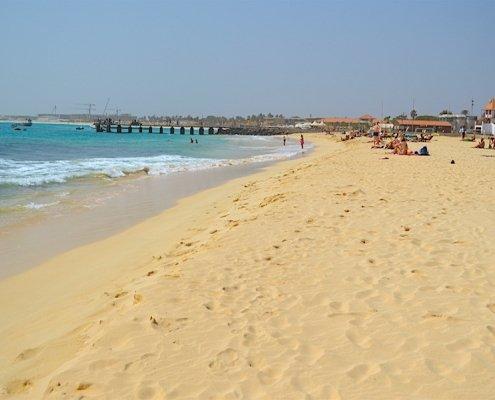 Santa Maria beach and pier
