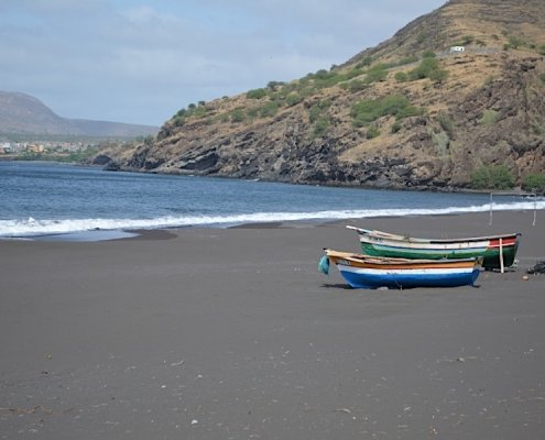 Ribeira da Prata black beach Santiago Cape Verde