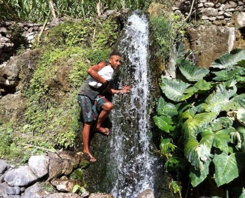 Waterfall Santa Antao Cape Verde