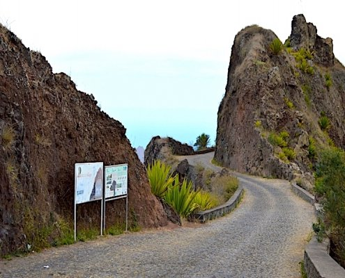 Mountain pass Santo Antao