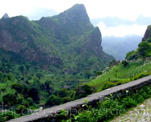 Mountains on Santo Antão Cape Verde