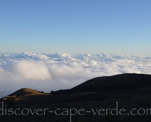 Above the clouds on Fogo island